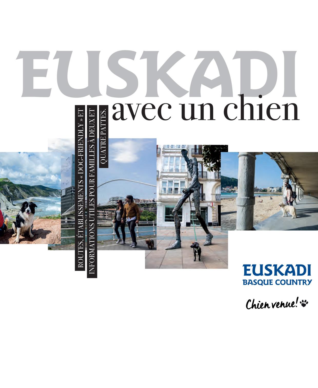 Brochure touristique: Pays Basque Espagnol avec un chien